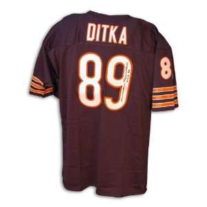 Mike Ditka Autographed/Hand Signed Custom Blue Jersey