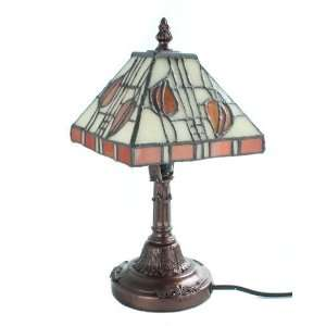 Juliana Art Deco Traditional Tiffany Glass Lamp Bronze