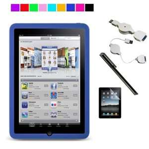 Stylus + Retractable USB Cable + Screen Protector (Clear) Electronics
