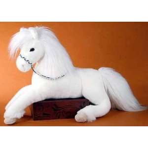 White Horse Stuffed Plush Animal  Toys & Games
