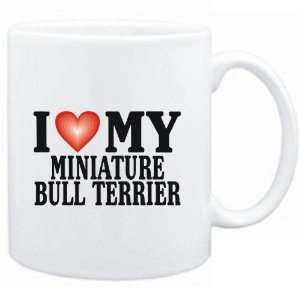 Mug White  I LOVE Miniature Bull Terrier  Dogs Sports