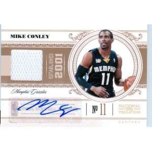 Mike Conley Autograph Game Worn Jersey Card