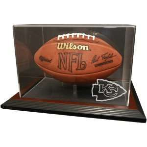 Kansas City Chiefs Zenith Football Display   Mahogany
