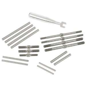 RC8T TITANIUM TURNBUCKLE & HINGE PIN KIT Toys & Games