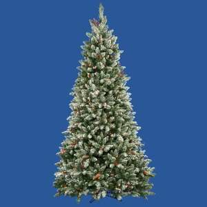 7.5 Pre Lit Frosted Edina Fir Cones & Berries Christmas