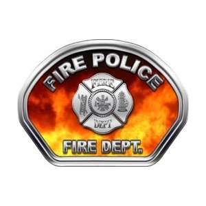 Fire Helmet Front Face Fire Police Real Fire Decal Reflective