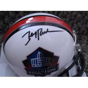 JERRY RICE AUTOGRAPHED SIGNED HALL OF FAME MINI HELMET COA