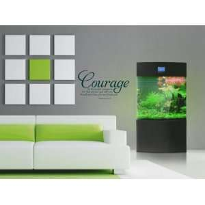 Courage Be Strong and Courageous Deuteronomy Vinyl Wall