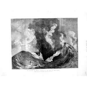 1872 Eruption Mount Vesuvius Crater Mountain Volcano