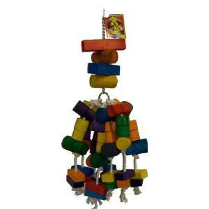 Parrot Rope and Wood Foraging Toy