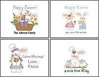 Personalized EASTER BUNNY Note Cards Stationery