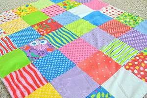 HOOPLA  Baby Girl Patchwork Blanket Quilt Fabric Moda