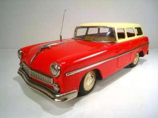 MARUSAN Tin Friction 1955 Ford Ranch Wagon 12.5 Excellent With