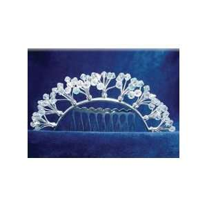 Antique Crystal Silver Hair Comb Beauty