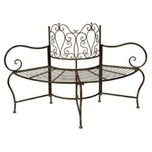 Wrought Iron Tree Bench Patio, Lawn & Garden