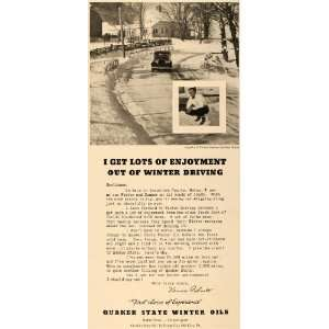 Car Care Oil Vernon Palmer Letter   Original Print Ad