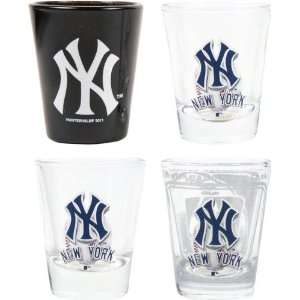 New York Yankees 3D Logo Shot Glass Set