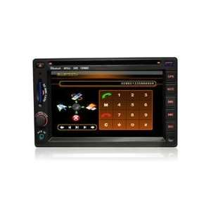 Double Din Car DVD with 6.2inch LCD,with Bluetooth+GPS