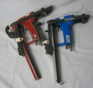 OF 2 JOSEF KIHLBERG INDUSTRIAL AIR PLIERS STAPLER GUN BLUE RED