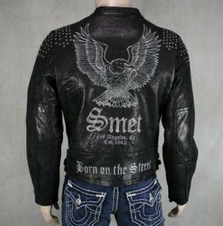 SMET Christian Audigier LEATHER jacket Eagle signature