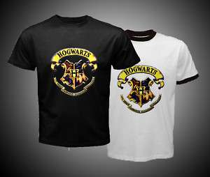 Harry Potter Hogwarts Logo Black White Hot T Shirt