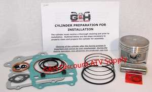 Honda 250ES Big Red 250SX 250 Engine Motor Top End Rebuild Kit