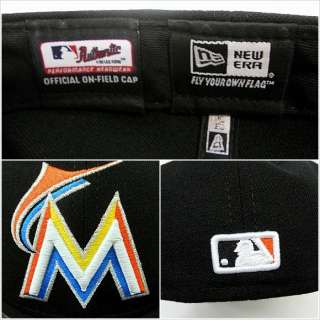New Era 59fifty MLB 2012 Miami Marlins M Florida Black Home Fitted Hat