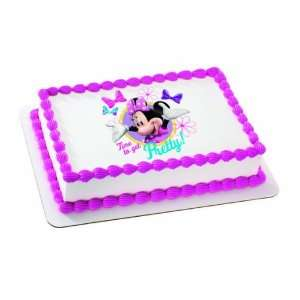 Minnie Mouse Bow tique Time to Get Pretty Personalized Edible Cake