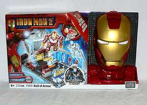 MEGA BLOKS IRON MAN 2 # 1959 HALL OF ARMOR 218 PIECES NIB