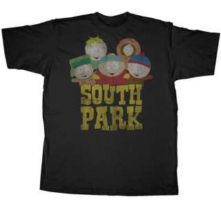 OFFICIAL SOUTH PARK GROUP OLD SOUTH PARK MENS T SHIRT