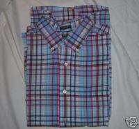 ST JOHNS BAY Long Sleeve Red & Blue Plaid Shirt  Large