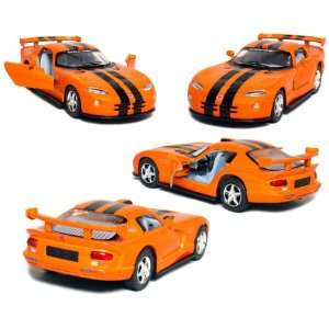 5 Die cast Metal, Dodge Viper GTR S with Pull Back n Go