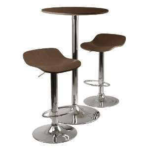 Kallie 3 pc Pub Table and Stools Set in Cappuccino