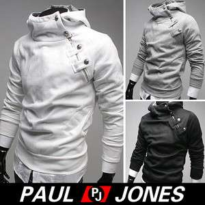 Newest fashion Korean Men's Slim fit hoodies Jacket Coat 4Colors XS