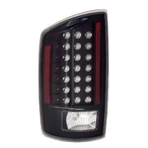 Dodge Ram 07 08 LED Taillights Black   (Sold in Pairs
