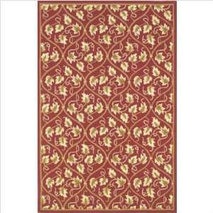 KAS Oriental Rugs VEA1380 Veranda Red Floral Indoor/Outdoor Rug Size