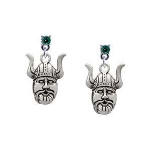 Mascot Emerald Swarovski Post Charm Earrings Arts, Crafts & Sewing