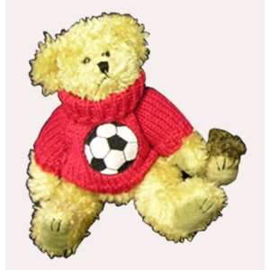 Soccer Gifts LIGHT COLORED BEAR/ RED SWEATER 8 TALL