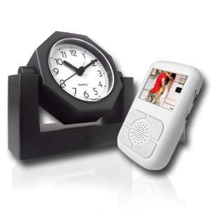Covert Wireless Spy Camera Alarm Clock + Receiver w/LCD