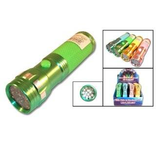 Glow In Dark Flashlight Blue, Green, Yellow & Pink (Pack of 12) Home