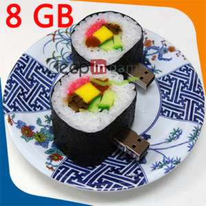 8GB 8 GB Sushi Food Shape USB Flash Memory Drive Stick