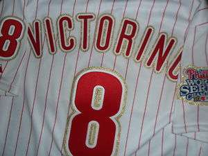 Shane Victorino 2009 Phillies Authentic Opening Day Gold Game Jersey