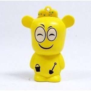 4GB Cute Yellow Smiling Bear USB Flash Drive Electronics