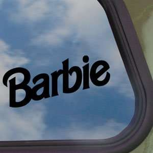 BARBIE Black Decal Doll Princess Car Truck Window Sticker