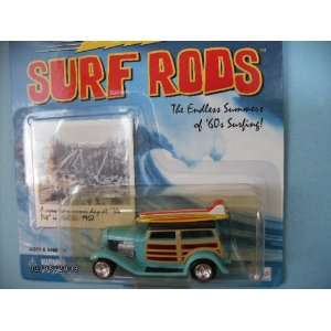 Johnny Lightning Surf Rod Da Surf Woody with 2 Surfboards