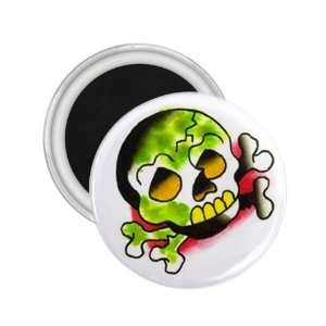 Tattoo Skull Cartoon Art Fridge Souvenir Magnet 2.25