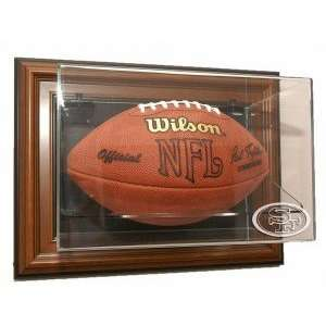 San Francisco 49ers Football Case Up Display   Brown