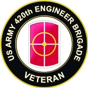 US Army Veteran 420th Engineer Brigade Decal Sticker 3.8