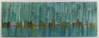 Vintage R W Mckinney Abstract Cityscape Original Oil Painting Art