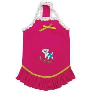 Cotton My Baby Solid Dog Dress, Small/Medium, Raspberry